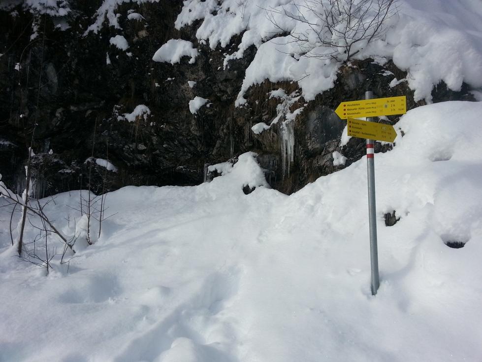 Hier brauchte ich dann die Schneeschuhe... (Foto: hikekarin.com)