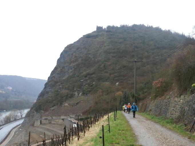 Mal eine gemütliche Strecke- Blick auf die Ruine Hammerstein (Foto: Hikekarin.com)