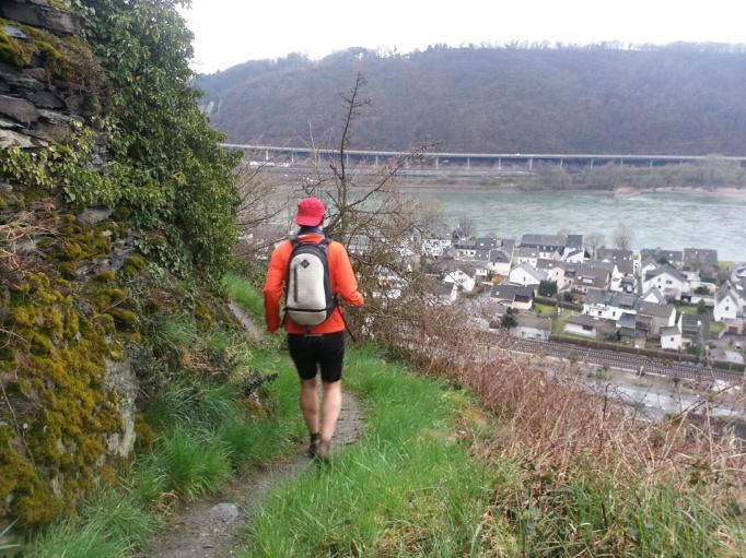 Die Aussichten lenken manchmal vom Laufen ab (Foto: Hikekarin.com)