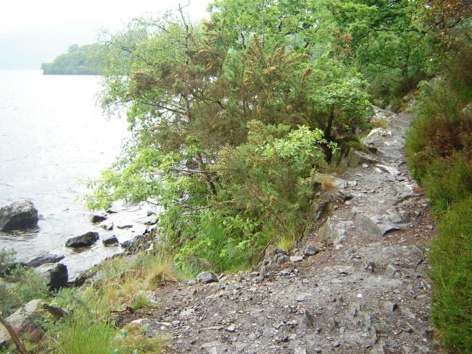 Steinige Pfade am Seeufer(Foto: Hikekarin.com)