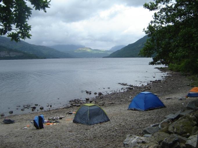 Ein paar Camper hatten sich einen richtig schönen Platz ausgesucht (Foto: Hikekarin.com)