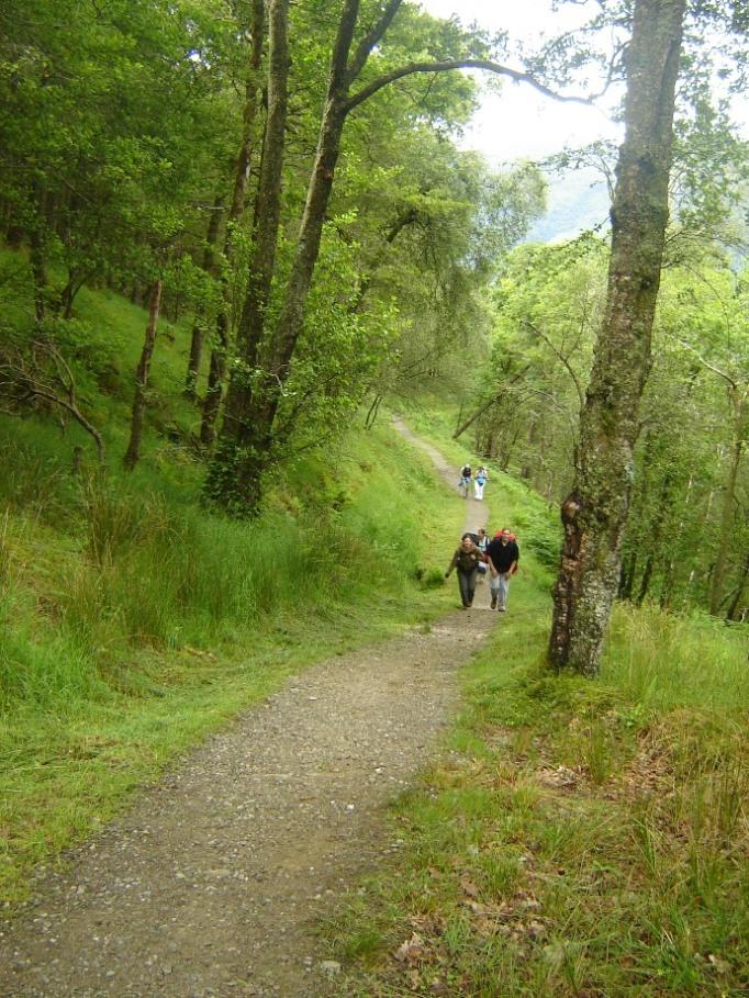 ... und traf nette Wandersleut (Foto: Hikekarin.com)
