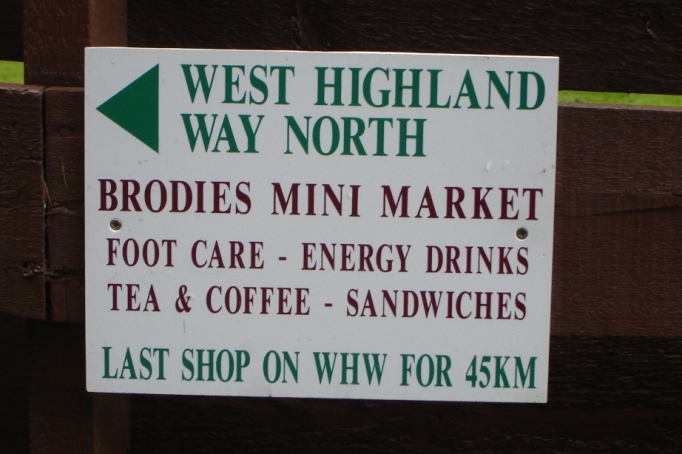 Hier wird sicher jeder WHW-Wanderer einkaufen (Foto: Hikekarin.com)