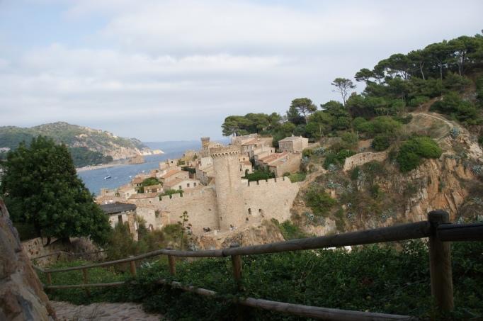 Blick vom Camin auf Tossa de Mar