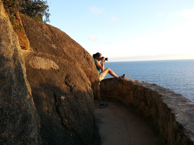 Wäre da keine Mauer, würde ich da nicht stehen (Foto: Hikekarin.com)