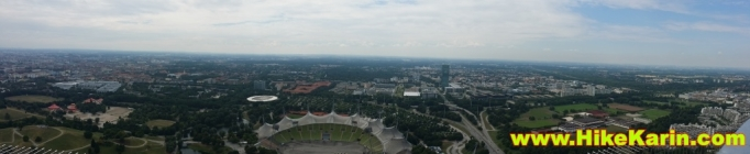 Panoramablick vom Olympiaturm aus