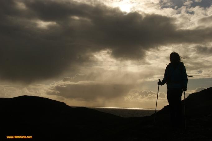 Irish weather - Die Frau und der Sturm