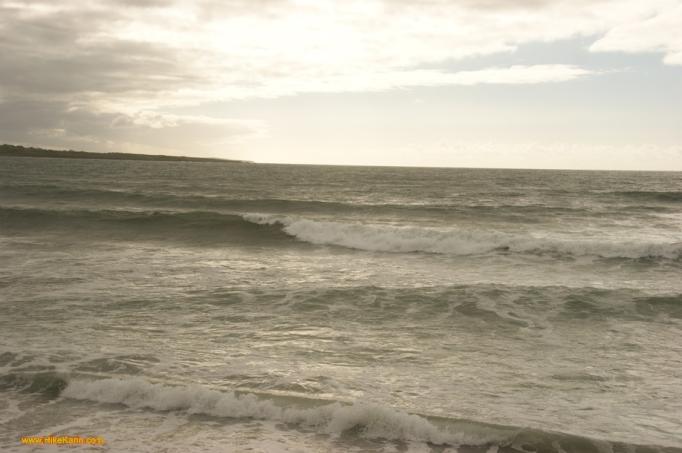 Wellen im Wind an Donegals Küste